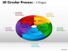 Business Diagram 3d Circular Process Cycle Diagram Chart 5 Stages Sales Diagram