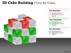 Business Diagram 3d Cube Building Cube By Cube Sales Diagram