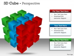 Business Diagram 3d Cube Perspective Ppt 3 Sales Diagram