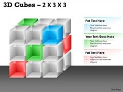 Business Diagram 3d Cubes 2x3x3 Marketing Diagram