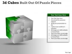 Business Diagram 3d Cubes Built Out Of Puzzle Pieces Sales Diagram