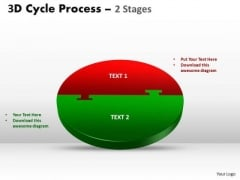 Business Diagram 3d Cycle Process Flow Chart 2 Stages Style 1 Strategic Management