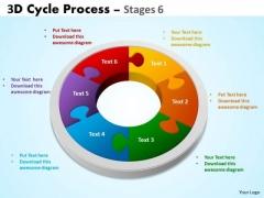 Business Diagram 3d Cycle Process Flowchart Stages 6 Sales Diagram