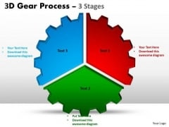 Business Diagram 3d Gear Process 3 Stages Business Cycle Diagram