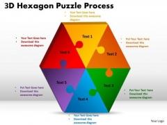 Business Diagram 3d Hexagon Puzzle Diagram Process 6 Consulting Diagram