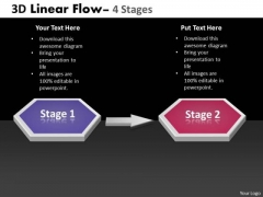 Business Diagram 3d Linear Flow