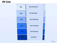 Business Diagram 3d List Checklist Strategy Diagram