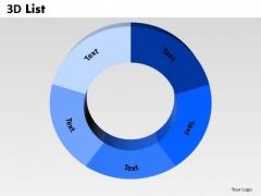 Business Diagram 3d List Circular Marketing Diagram