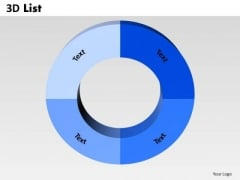Business Diagram 3d List Circular Sales Diagram