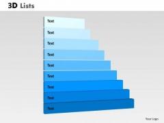 Business Diagram 3d List Diagram For Business Process Flow Marketing Diagram