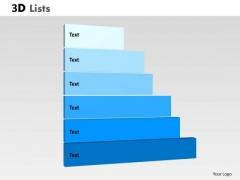 Business Diagram 3d List Diagram With 6 Stages Sales Diagram