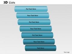 Business Diagram 3d List Diagram With 7 Stages Marketing Diagram