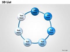 Business Diagram 3d List Sales Diagram