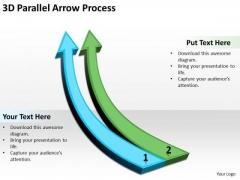 Business Diagram 3d Parallel Arrow Process 2 Strategy Diagram