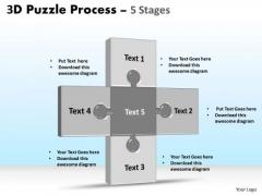 Business Diagram 3d Puzzle Process Stages 5 Sales Diagram
