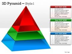 Business Diagram 3d Pyramid Design For Business Marketing Diagram