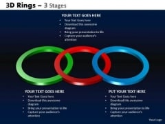 Business Diagram 3d Rings 3 Stages Business Finance Strategy Development