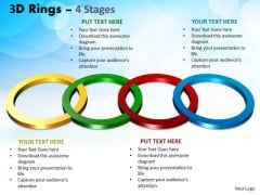 Business Diagram 3d Rings 4 Stages Marketing Diagram