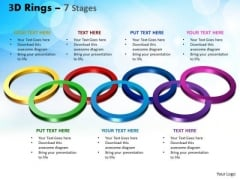 Business Diagram 3d Rings 7 Stages Sales Diagram