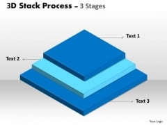 Business Diagram 3d Stack Process With 3 Stages Business Cycle Diagram