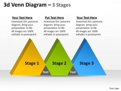 Business Diagram 3d Venn Stages 3 Sales Diagram