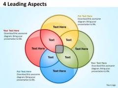 Business Diagram 4 Leading Aspects Flow Sales Diagram