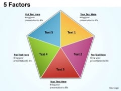 Business Diagram 5 Factors PowerPoint Slides 3 Business Framework Model