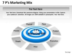 Business Diagram 7p Marketing Mix Sales Diagram