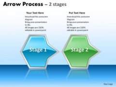 Business Diagram Arrow Process 2 Stages