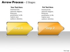 Business Diagram Arrow Process 2 Stages Style 1