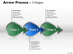 Business Diagram Arrow Process 3 Stages Strategy Diagram