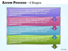 Business Diagram Arrow Process 4 Stages Marketing Diagram