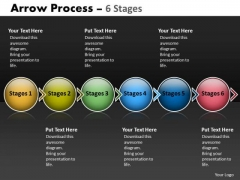 Business Diagram Arrow Process 6 Stages Business Cycle Diagram