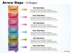 Business Diagram Arrow Steps 6 Stages Boxes Sales Diagram