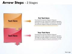 Business Diagram Arrow Steps Diagram 2 Stages Business Framework Model