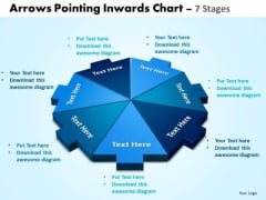 Business Diagram Arrows Pointing Inwards Chart 7 Stages Marketing Diagram