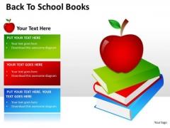 Business Diagram Back To School Book Business Finance Strategy Development