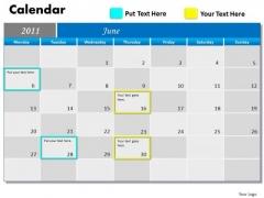 Business Diagram Blue Calendar 2011 Marketing Diagram