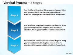 Business Diagram Blue Vertical Process 3 Stages Strategy Diagram
