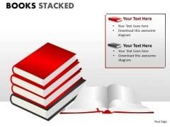 Business Diagram Books Stacked Business Framework Model