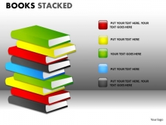 Business Diagram Books Stacked Mba Models And Frameworks