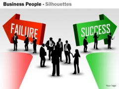 Business Diagram Business People Silhouettes Consulting Diagram
