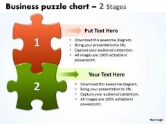Business Diagram Business Puzzle Chart 2 Stages Sales Diagram