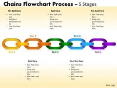 Business Diagram Chains Flowchart Process Diagram 5 Stages Business Cycle Diagram