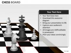 Business Diagram Chess Board Business Framework Model