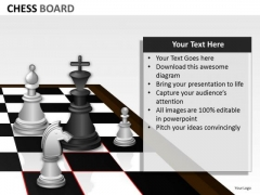 Business Diagram Chess Board Strategy Diagram
