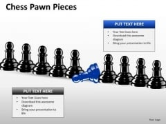 Business Diagram Chess Pawn Pieces Mba Models And Frameworks