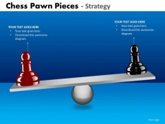Business Diagram Chess Pawn Pieces Strategy Diagram