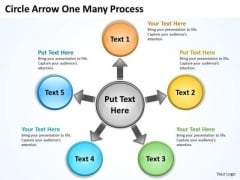 Business Diagram Circle Arrow One Many Process Consulting Diagram