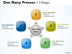 Business Diagram Circle One Many Process 5 Stages Strategy Diagram